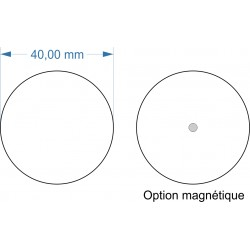 Socle rond diamètre 40mm