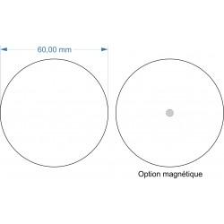 Socle rond diamètre 60mm