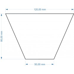 Socle Trapèze 120x50x80mm