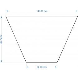 Socle Trapèze 140x60x90mm