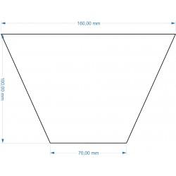 Socle Trapèze 160x70x100mm