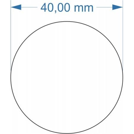 Aimant rond diamètre 40mm adhésif