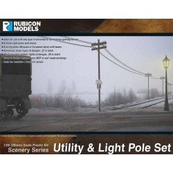 Utility & Light Pole Set