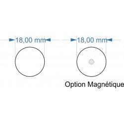 Socle rond diamètre 18mm