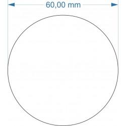 Aimant rond diamètre 60mm...