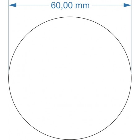 Aimant rond diamètre 60mm adhésif