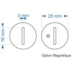 Socle rond diamètre 25mm...