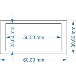 Adaptateur 25x50mm vers...