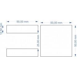 Plateau 50x50 - 1 socle...