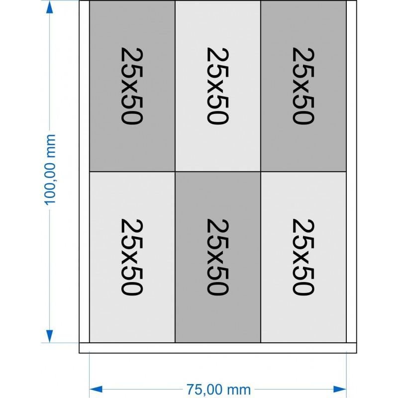 Plateau de mouvement 75x100mm