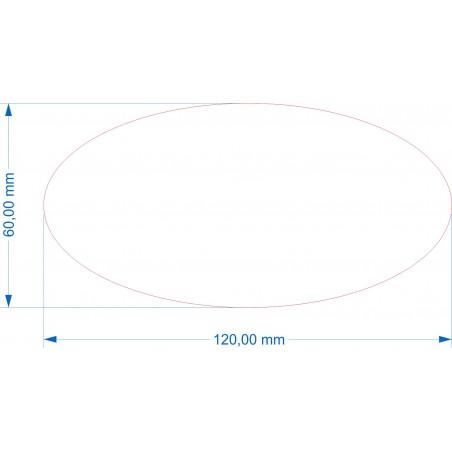 Ovale 120x60