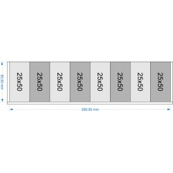 Plateau de mouvement 200x50mm
