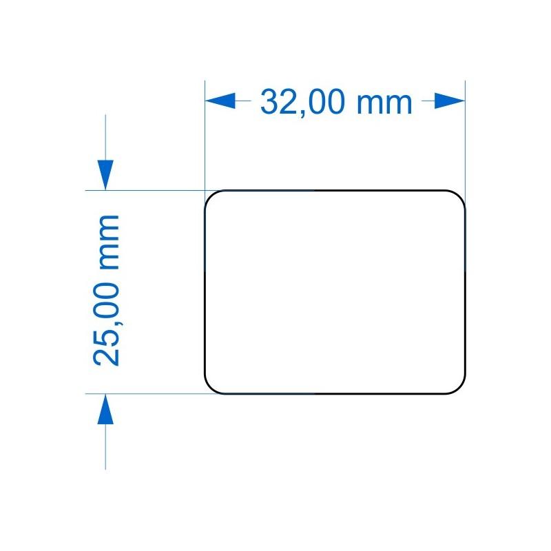 Socle 25x32mm angles arrondis