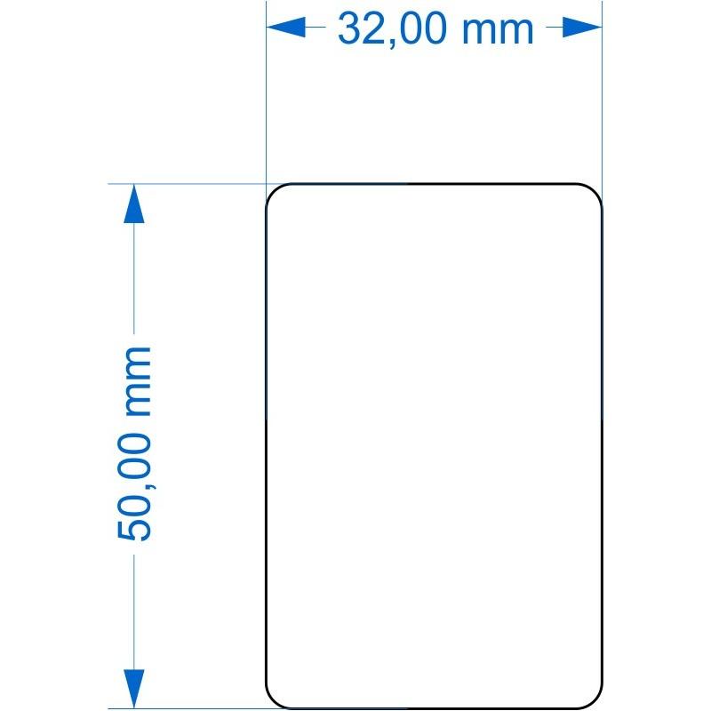 Socle 32x50mm angles arrondis