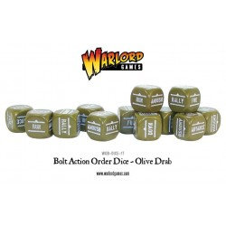 Bolt Action Orders Dice - Olive Drab (12)
