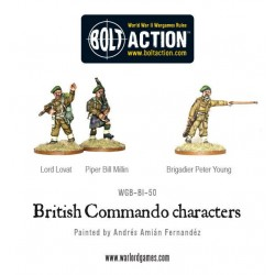 Commando characters (Lord Lovat, Piper Millin & Brigadier Young)