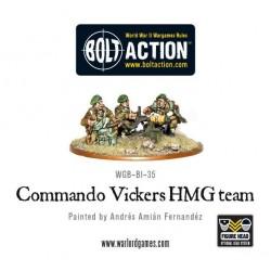 Commando Vickers HMG team