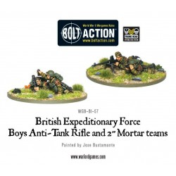 "Early War British Anti-Tank Rifle Team & 2"" Light Mortar Teams"