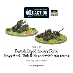 "Early War British Anti-Tank Rifle Team & 2"" Light Mortar Teams"