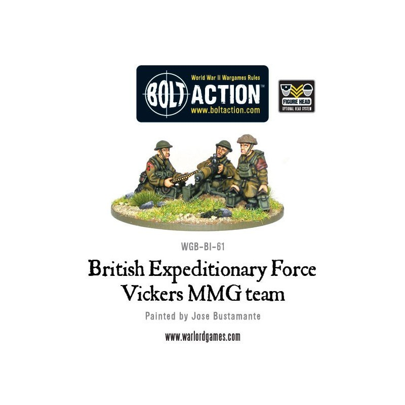 Early War British Vickers MMG Team