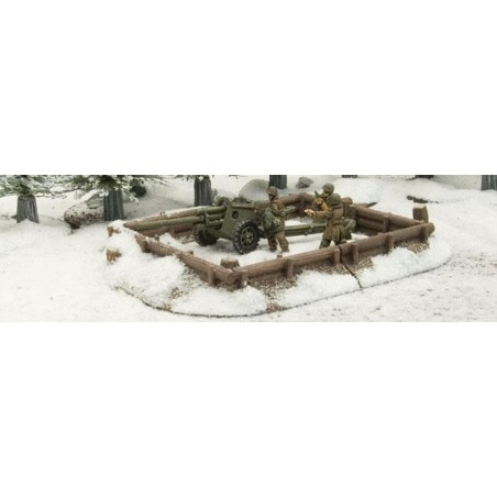 BB149 - Log Emplacement - Gun Pit Markers : Winter