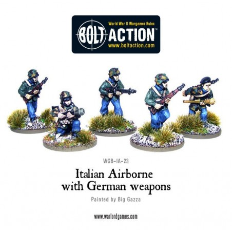 Italian Airborne with German weapons