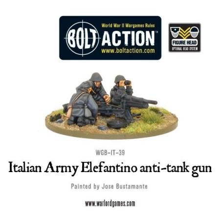 Italian Army 47mm Elefantino anti-tank gun