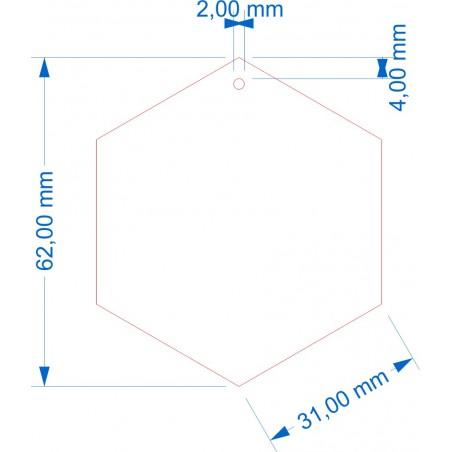 Socle Hexagonal 62mm avec trou