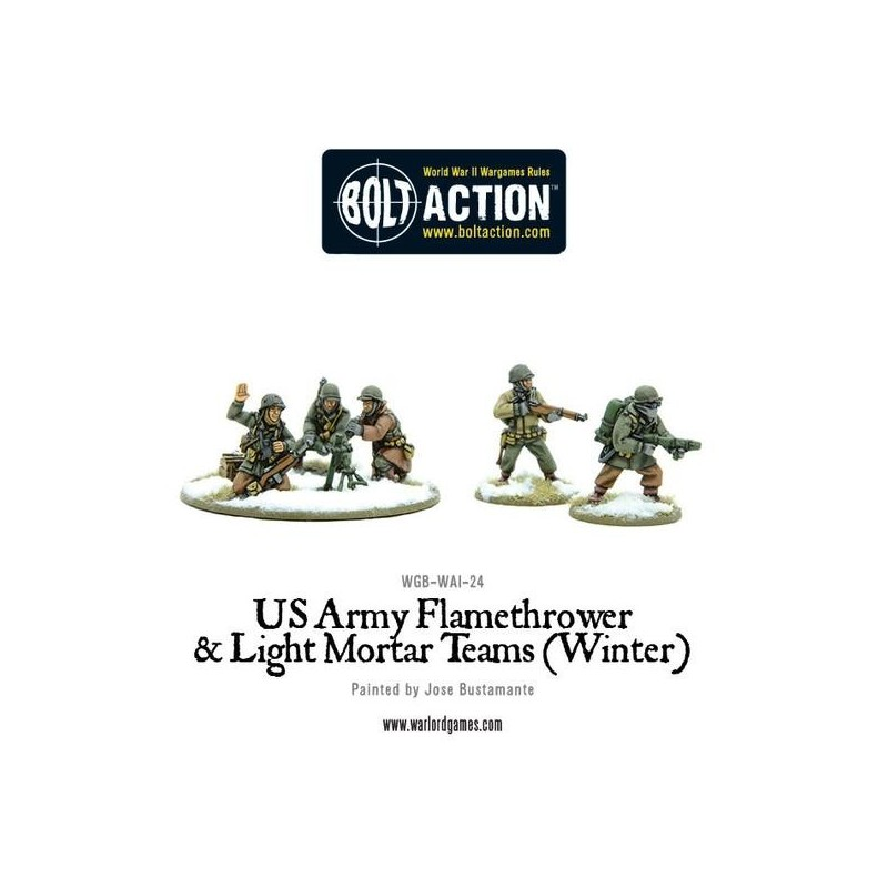 US Army Flamethrower & Light Mortar teams (Winter)