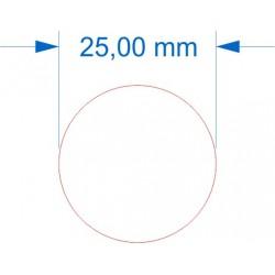 Socle rond diamètre 25mm transparent