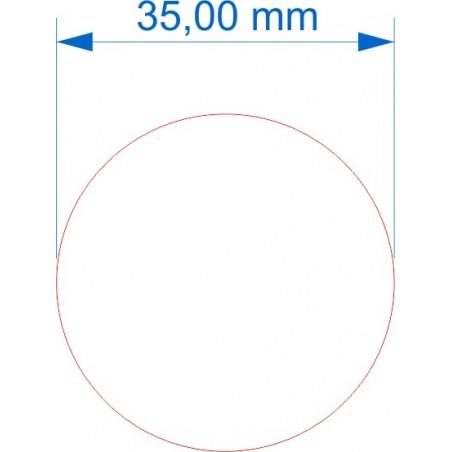 Socle rond diamètre 35mm transparent