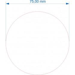 Socle rond diamètre 75mm transparent
