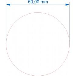 Socle rond diamètre 60mm transparent