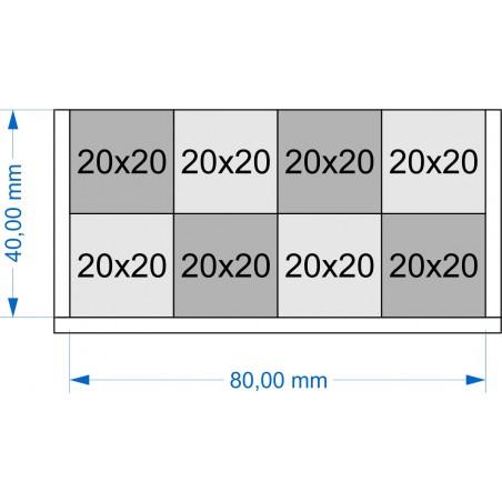 Plateau de mouvement 80x40mm