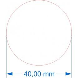 Socle rond diamètre 40mm transparent