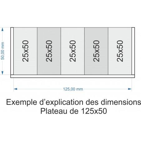 Plateau de mouvement 125x50mm
