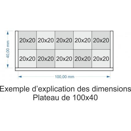 Plateau de mouvement 100x40mm