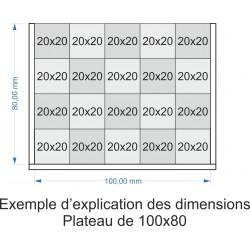 Plateau de mouvement 100x80mm