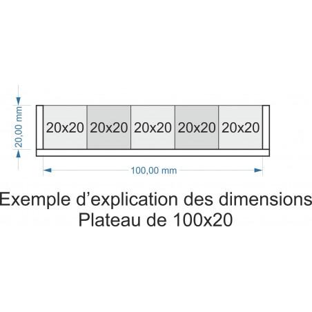 Plateau de mouvement 100x20m