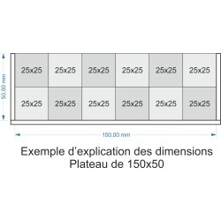 Plateau de mouvement 150x50mm