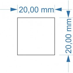 Aimant 20 x 20 adhésif mag+