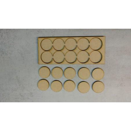 Plateau de mouvement 5x2 Socles Rond diamètre 32mm