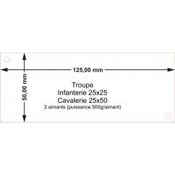 Plateau Troupe Infanterie 25x25 - 125x50mm Magnétique