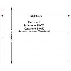 Plateau Régiment Infanterie 25x25 - 125x100mm Magnétique