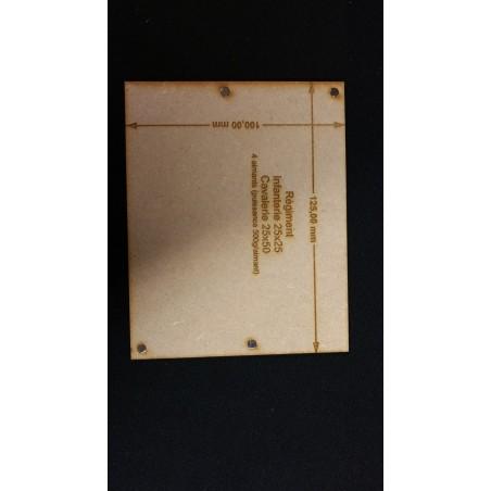 Plateau Régiment Cavalerie 25x50 - 125x100mm Magnétique