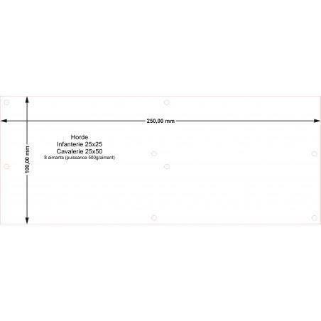 Plateau Horde Cavalerie 25x50 - 250x100mm Magnétique