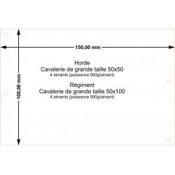Plateau Régiment Cavalerie de grande taille 50x100 - 150x100mm Magnétique