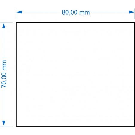 Socle 70x80mm