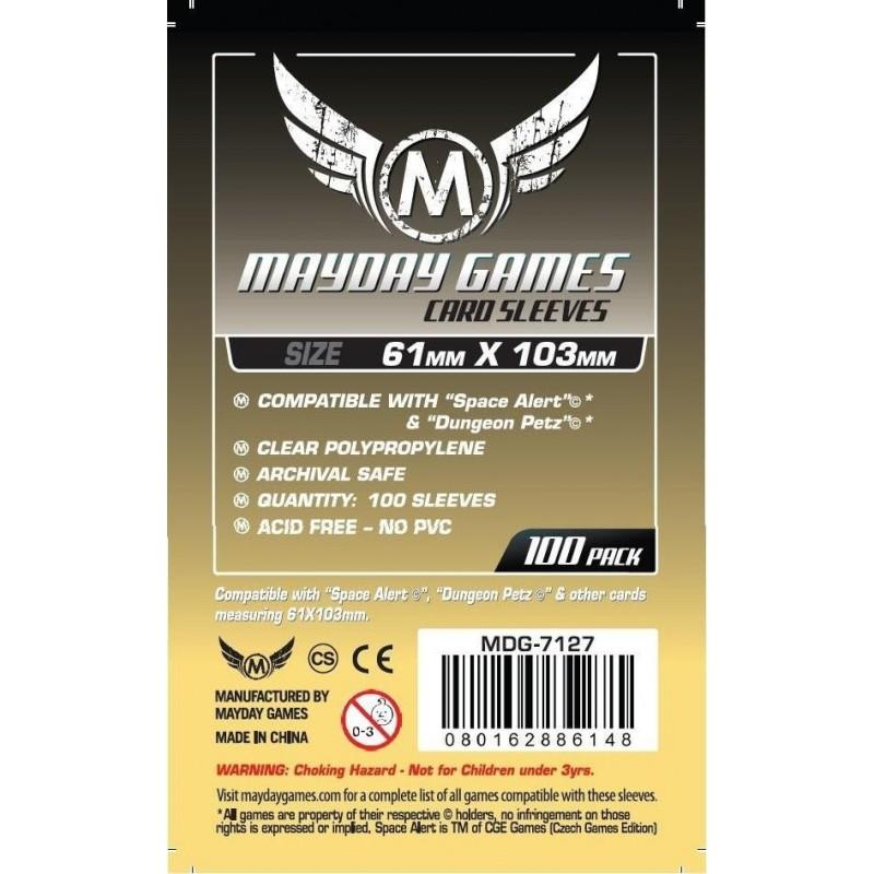 Magnum Space Card Sleeve 61 X 103 mm Space Alert / Dungeon Petz Size