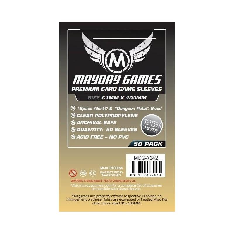 Premium Space Card Sleeve: 61 X 103 mm Space Alert / Dungeon Petz